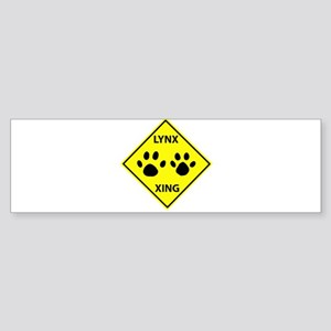 Lynx Crossing Bumper Sticker